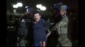 "Joaquín ""El Chapo"" Guzmán arrested on January 8, 2016 in Sinaloa. Photo: Alfredo Dominguez, La Jornada."