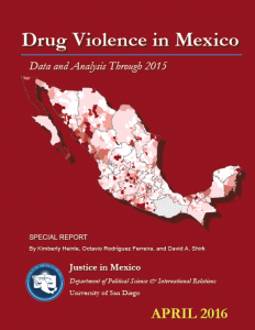 Drug Violence in Mexico 2015 cover image