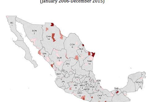Journalists map 2000-2015, Justice in Mexico
