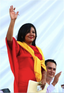 Mayor Gisela Mota at her inauguration ceremony on January 1, 2016. Source: Associated Press.