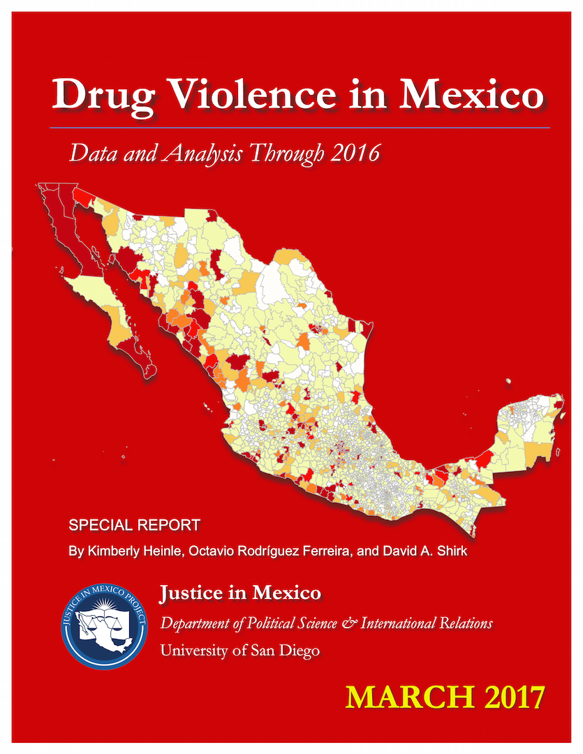 Drug Violence in Mexico 2017 report Cover
