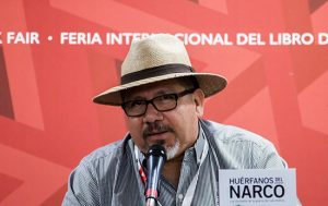 Javier Valdez speaking at a book launch in November 2016. Source: The Committee to Protect Journalists