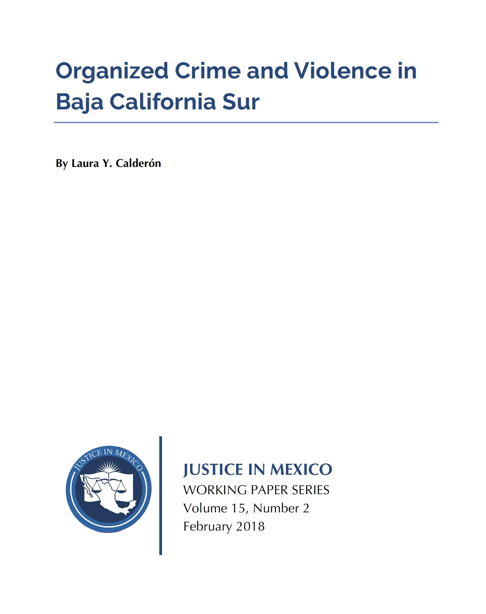 Organized Crime and Violence in Baja California Sur