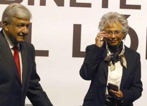 Andres Manuel Lopez Obrador and Olga Sánchez Cordero.