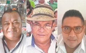 Images of three slain journalists